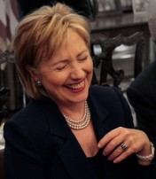 hillary laughs